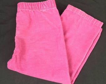 Pink Corduroy Pants, Toddler Pants, Vintage Toddler Pants, Size 2T, Pink Girl Pants, Little Girl Pants, Long Pants, Vintage Toddler Clothes