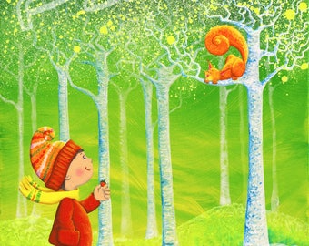 """Squirrel"" canvas print 20 x 30"