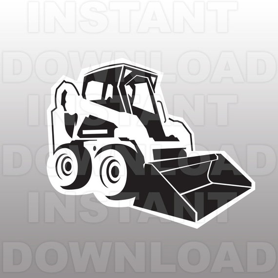 Bobcat Bulldozer Svg File Cutting Template Clip Art For
