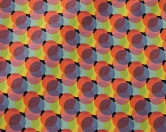 """1/2 YD - 44"""" Colorful Circle Print Cotton Fabric"""