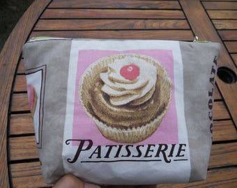 PATISSERIE fabric makeup bag