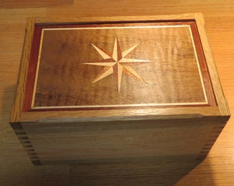 Compass Rose Marquetry Box