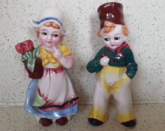 Pair of Dutch Children Figurines