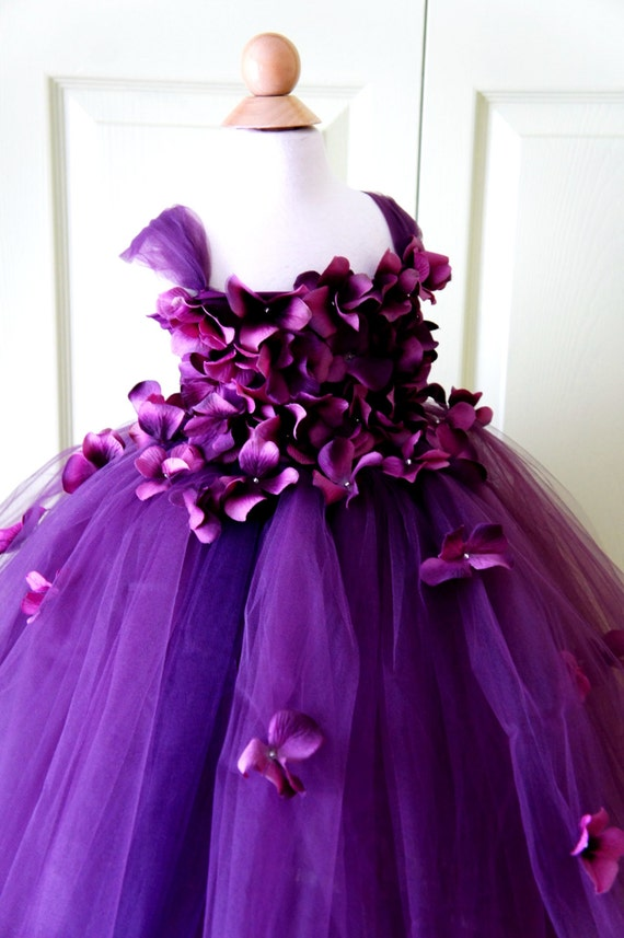 Flower girl dress tutu dress photo prop purple flower mightylinksfo