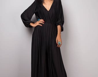 Black Jumpsuit, black Jumper Maxi Dress, Long sleeve jumper : Chic & Casual Collection