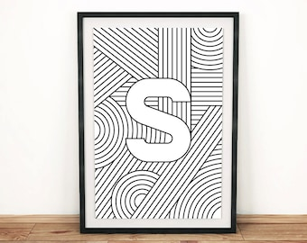"Typography Print | Letter Print ""S"" 