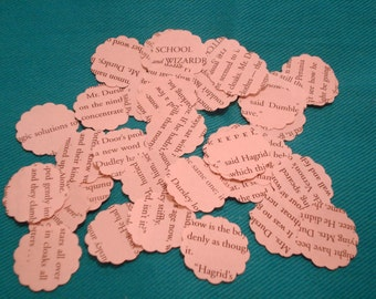 500 Hand Punched 1 inch Harry Potter scalloped confetti
