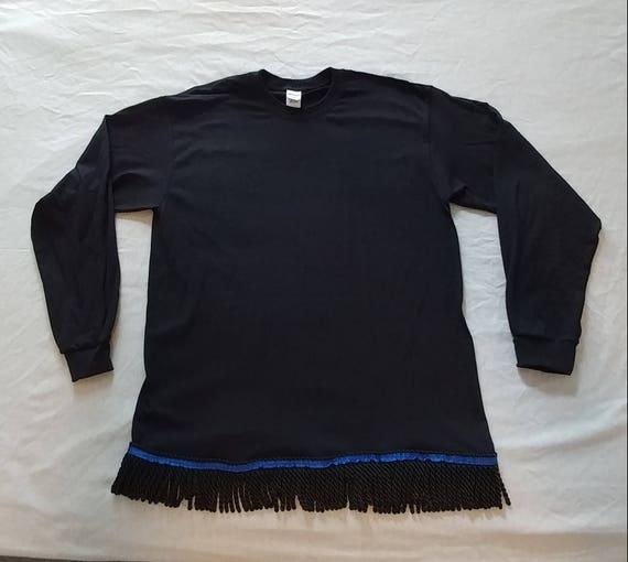 Hebrew Israelite Embroidered Shirt w/ Fringes (Long-sleeved) JB4vAKyAsx