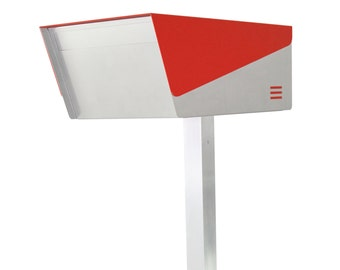 "KATANABOX ""Prime DR"" - Stainless Steel Post-Mount Modern Design Mailbox, Lockable"