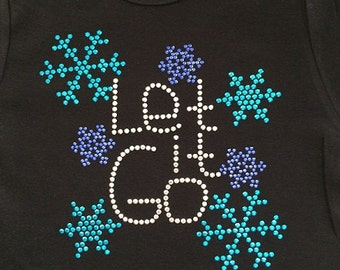 LET IT GO original short sleeve rhinestud tee by 1286 Kids (formerly Daisy Creek Designs)