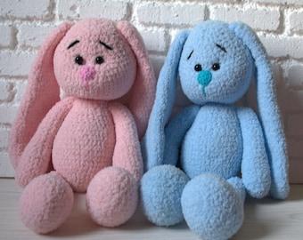 Crochet animal bunny Toys for baby  Rabbit knitted Bunny handmade Soft bunny Hand crochet bunny Soft plush toy animals bunny