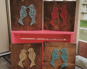 Made to Order String Art Birds on a Wire Sign