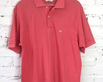 Vintage Brooks Brothers Polo Shirt / Size Medium / Made in USA / 90s 1990s