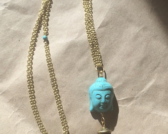 Buddha blues necklace