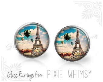 EIFFEL TOWER Earrings, Eiffel Tower Jewelry, Eiffel Tower Stud Earrings, Eiffel Tower Post Earrings, French Stud Earrings, Paris France