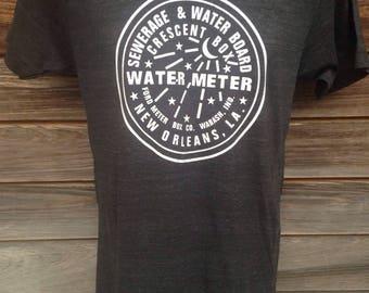 Water Meter Shirt, New Orleans Mens T-Shirt, Watermeter, NOLA Locals, Custom Shirts, New Orleans Apparel, Handmade