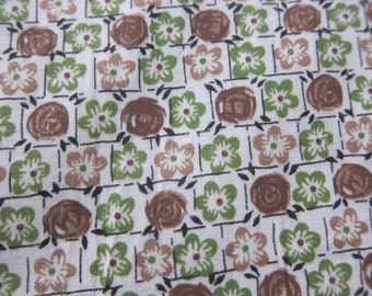 Vintage cotton fabric, 1930s cotton, vintage dressmaking , quilting cotton, 30s fashion,  30s dress fabric
