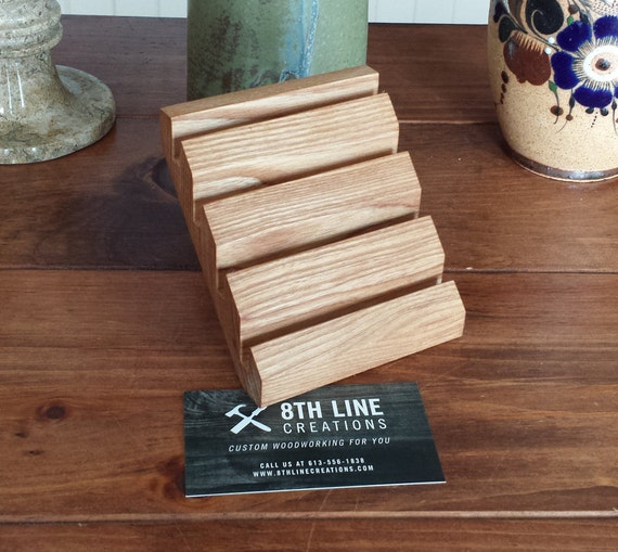 Multiple business card display wood business card holder reheart Gallery