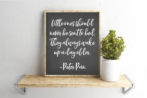 Christmas Grinch Quote 8 X 10 Digital Print Instant By: Printable Wall Art Peter Pan Quote Chalkboard Background