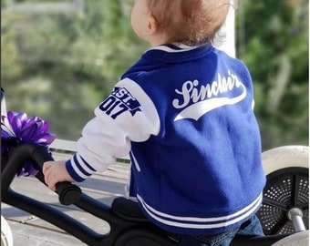 Personalized Birthday Gift for Boy - Custom Made Varsity Jacket for Girl - Back to School - Newborn Baby Shower Gift - Personalized Jacket
