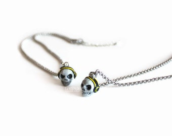 Skull Necklace, Skull DJ, Skeleton Necklaces, Gothic Jewellery, Skull Jewelry For Women, Gothic Lolita, Modern Simple,Halloween Gift For Her
