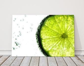lime slice kitchen modern Canvas Picture Print