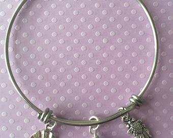 Koi Pond Stainless Steel Charm Bracelet