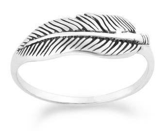 Feather Ring Sterling silver