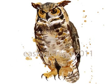 Owl print 8x10 inches - owl lover gift