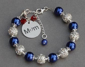 Birthstone Mom Gift, Birthstone Mum Bracelet, Present for Mum, Jewelry for Mother, Present for Mum, Mom Birthday Gift, Mom Jewelry