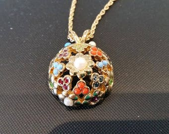 D'Orlan Signed Ball Pendant from the Buried Treasure Collection.  30inch chain.  Vintage, new