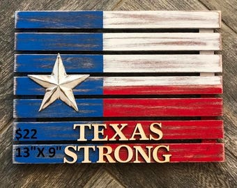Rustic Texas Strong Flag