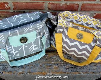 Concealed Carry Purse, Concealed Carry Purses, Choose Your Own Fabric, Handbag, Made in MO, USA