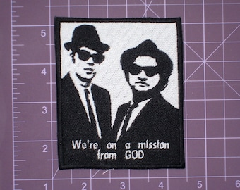 Blues Brothers Mission from GOD Embroidered Patch, New for jacket, hat, vest
