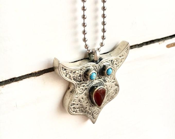 Afghan silver charm