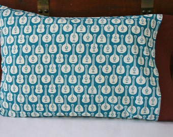 Organic Pillowcase, Organic Standard Pillowcase, Organic Cotton Pillowcase, Pillow Case, Guitars, Guitar Pillowcase, Home Decor
