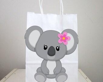 Koala Goody Bags,  Koala Favor Bags, Koala Gift Bags, Koala Birthday Favors, Item#  819161233A