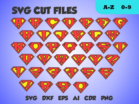 superman font perfect cut monogram letters svg cut file