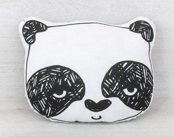 FREE SHIPPING Panda, Stuffed panda, Pillow, Nursery Decor, Soft Toy, Plush Toy, Kids Room Decor, panda Cushion, Decorative Pillow, panda