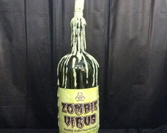 Zombie Virus LED Bottle Candle Halloween Prop