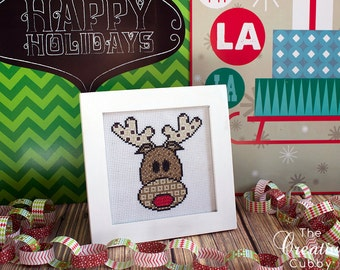 Rudolph Cross Stitch Pattern .PDF - Instant Download