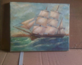 Oil Painting Clipper Ship