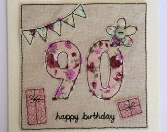 Age 90 - 90th Happy Birthday Card