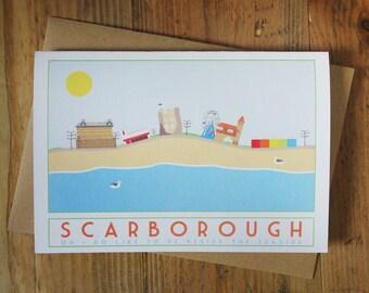 Scarborough Seaside Greetings Card