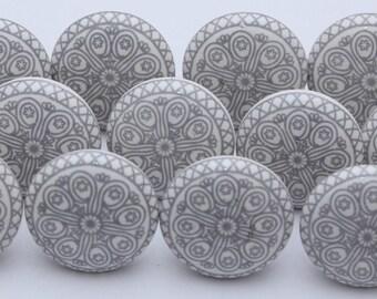 Grey And White Ceramic Knobs Ceramic Door Knobs Kitchen Cabinet Knobs
