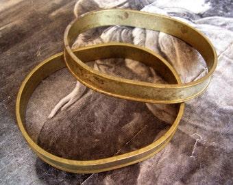 1 PC Raw Brass Channel Bangle Bracelet - B012
