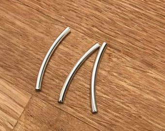 20 Smooth Curve Tube Spacer Beads