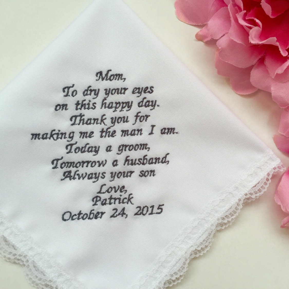 Wedding Gift From Groom To Mother Groom/Personalized Wedding