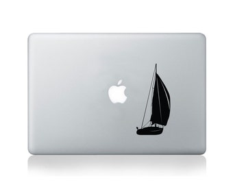 Sailboat Vinyl Decal for Macbook (13/15) or Laptop