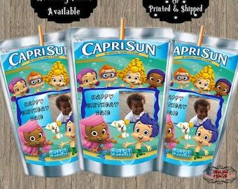 Bubble Guppies Capri Sun Label W/Photo/Bubble Guppies Birthday/Custom Capri Sun Label/Juice Label/Capri Sun/Party Favor/Digital/Printable